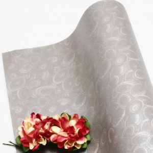 Single-sided Pearlescent Embossed papers, Silver colour, 72cm x 54cm, 1 sheet, (UAV0019)